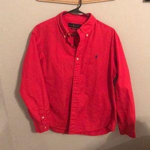 Red Ralph Lauren button down